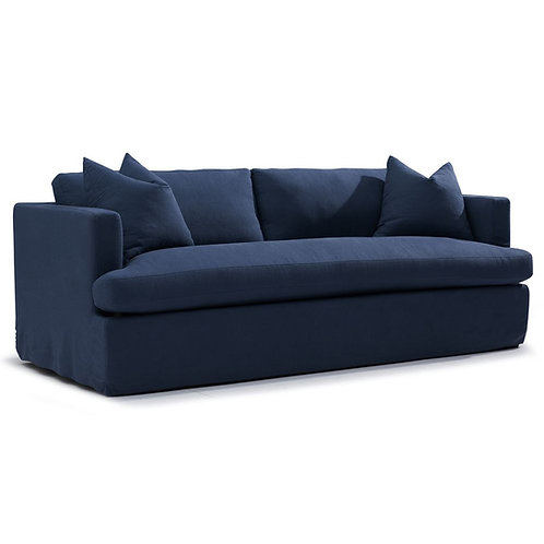 Birkshire 3-Seat Sofa - Navy Linen - RR $2995