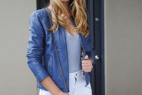 New York Jacket - Leather - Vintage Denim - Sizes 8-16