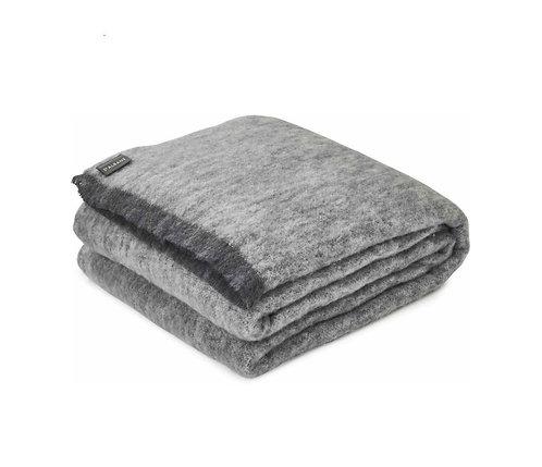 Alpaca Pure Wool Blanket/Throw - GRANITE - 200cmx235cm
