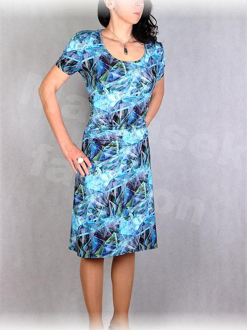 Šaty s řasením v pase vz.645