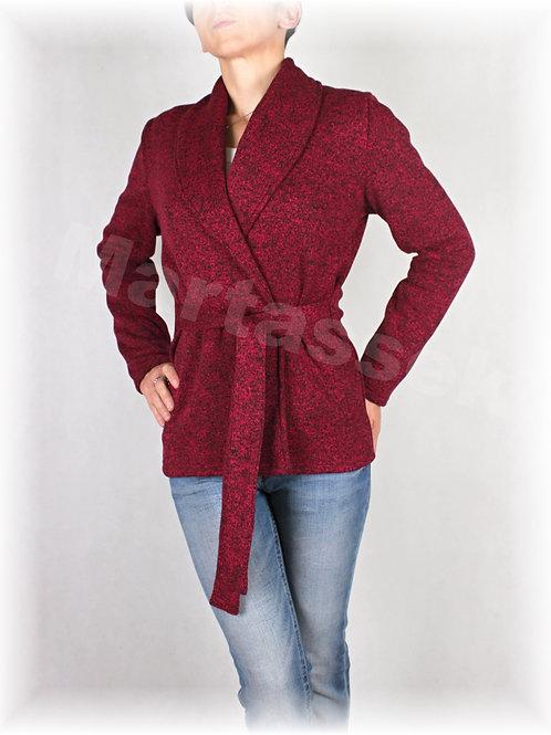 Kabátek s šálovým límcem-svetrovina(více barev)
