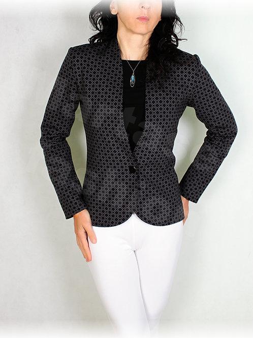 Kabátek luxusní úplet na knoflík