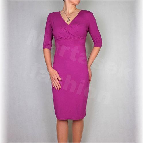 Šaty  vz.392 (viskóza/elastan-více barev)