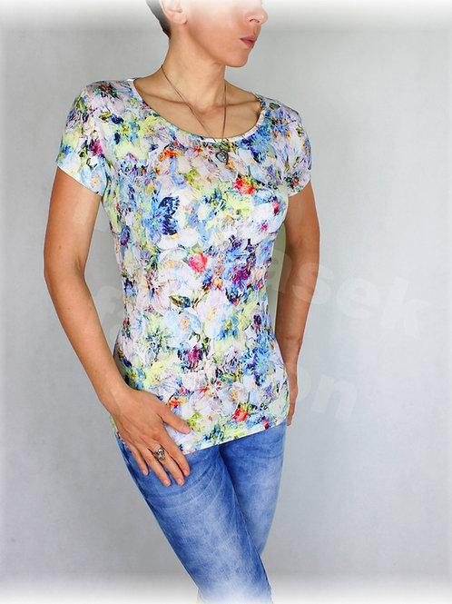 Triko jemné květy vz.391