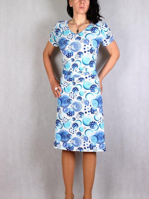 Šaty s řasením v pase vz.651
