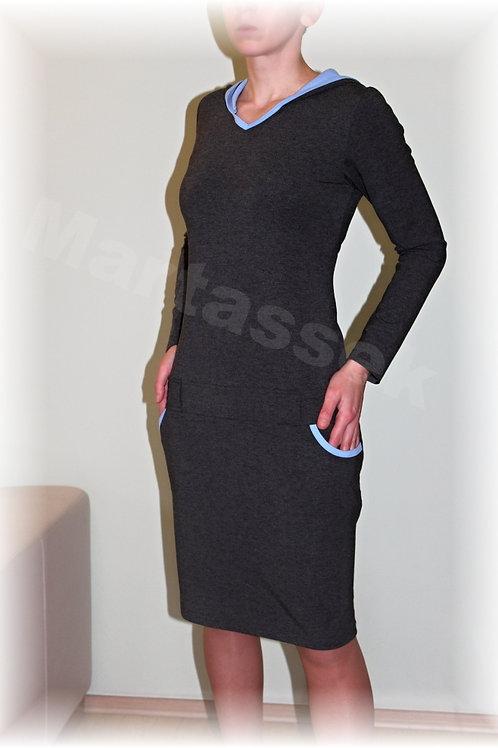 Šaty volnočasové s kapucí (více barev)