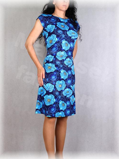 Šaty s řasením v pase vz.660