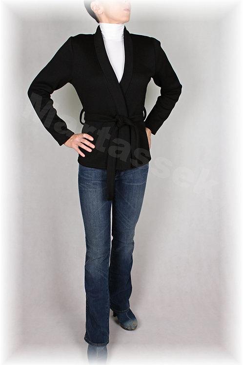 Kabátek s vazačkou-svetrovina(více barev)