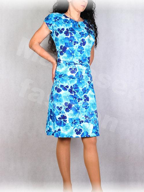 Šaty s řasením v pase vz.695