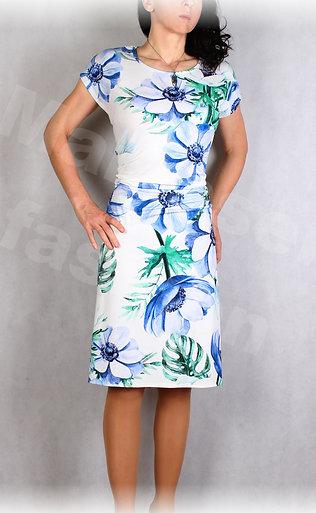 Šaty s řasením v pase vz.654
