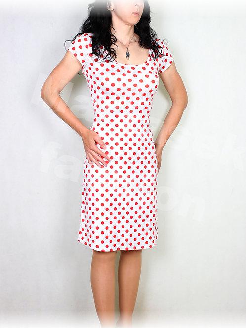 Šaty červeno-bílý puntík vz.552