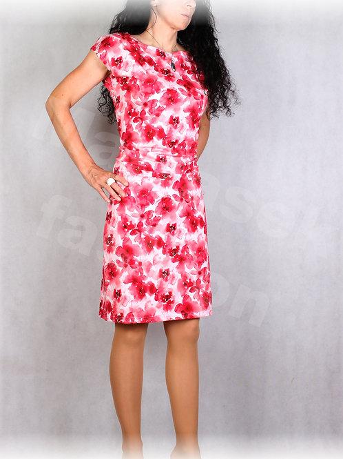 Šaty s řasením v pase vz.691