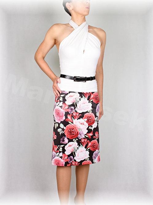 Sukně růže luxusní úplet vz.632