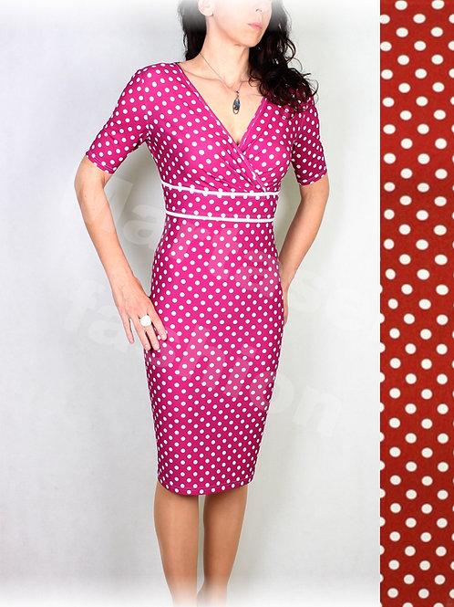 Šaty červeno-bílý puntík vz.536