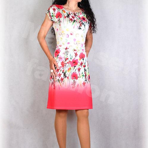Šaty s řasením v pase vz.687