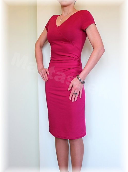 Šaty s řasením v pase vz. 252 - (více barev)