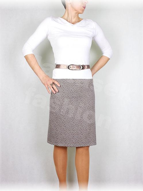 Sukně šedo-béžový puntík vz.512