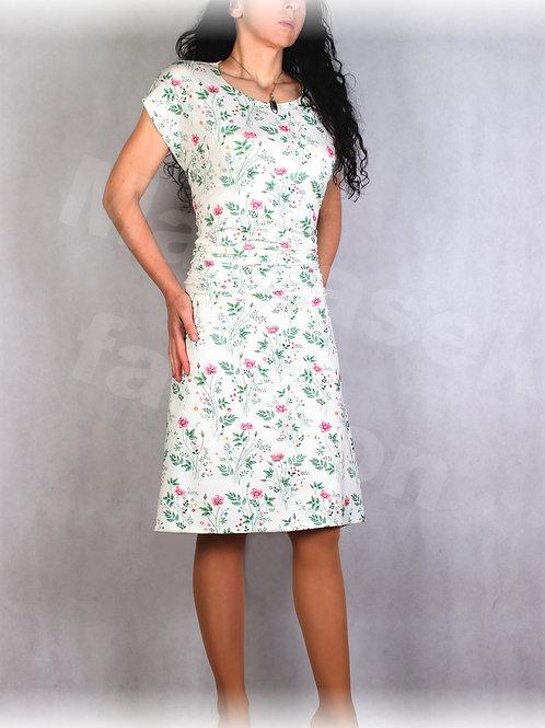Šaty s řasením v pase vz.666