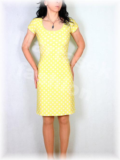 Šaty žluto-bílý puntík vz.545