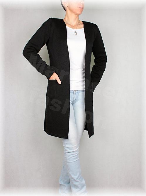 Kabátek bez zapínání s kapsami-svetrovina(více barev)