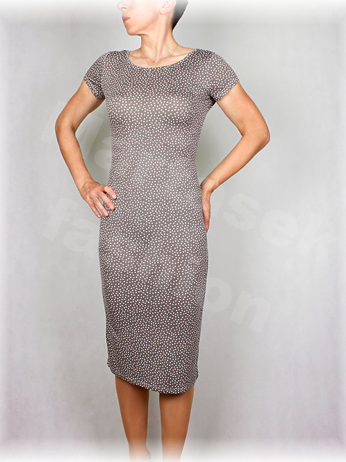 Šaty šedo-bílý puntík vz.410