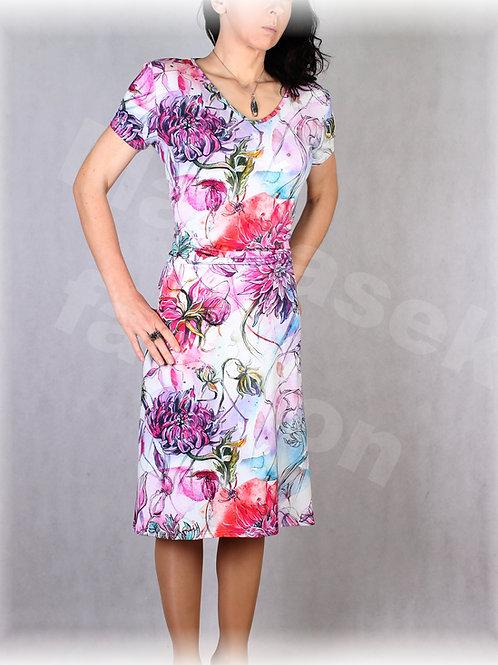 Šaty s řasením v pase vz.637