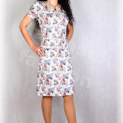 Šaty s řasením v pase vz.681
