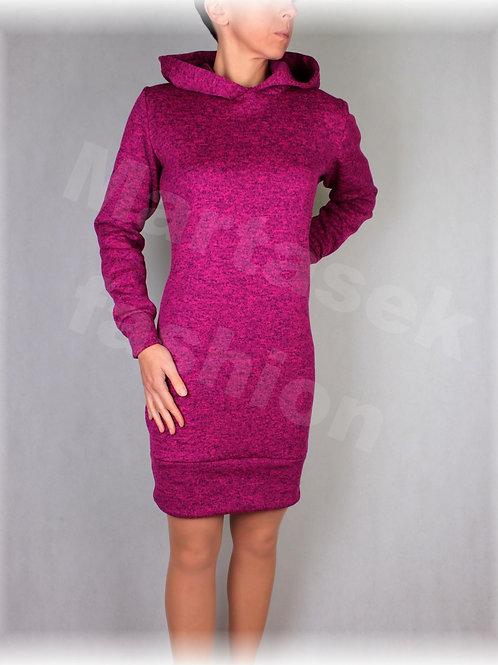 Šaty s kapucí-hřejivá svetrovina (více barev)