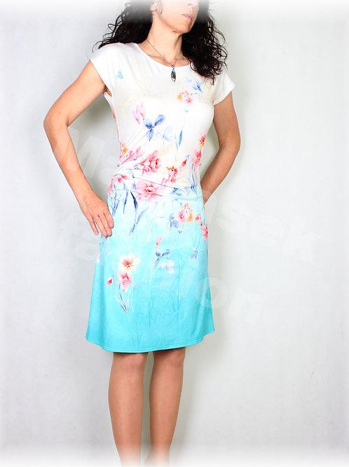 Šaty s řasením v pase vz.518