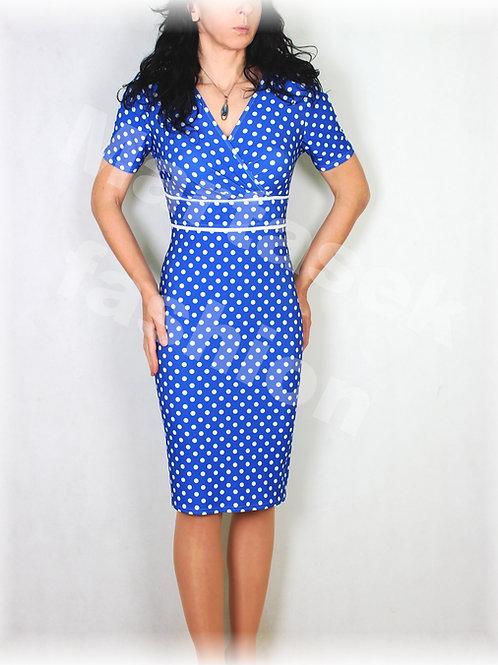 Šaty modro-bílý puntík vz.532