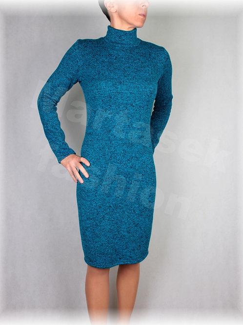 Šaty se stojáčkem-hřejivá svetrovina (více barev)
