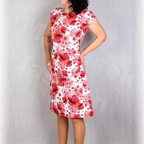 Šaty s řasením v pase vz.644