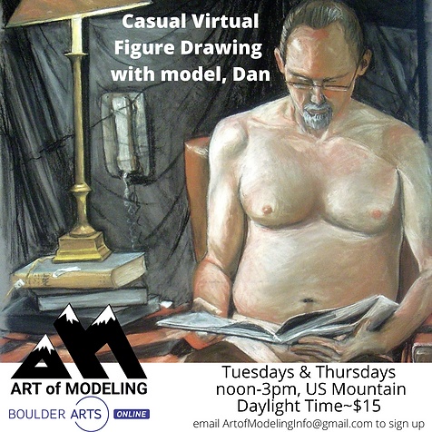 Casual Virtual Figure Drawing with model