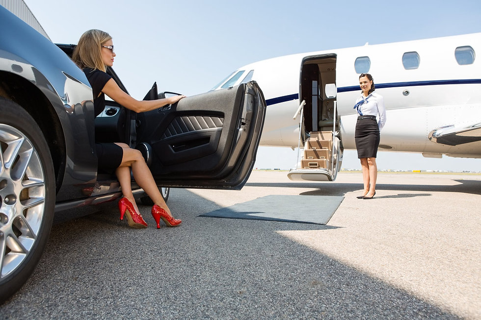 Lady and Private Plane.jpg