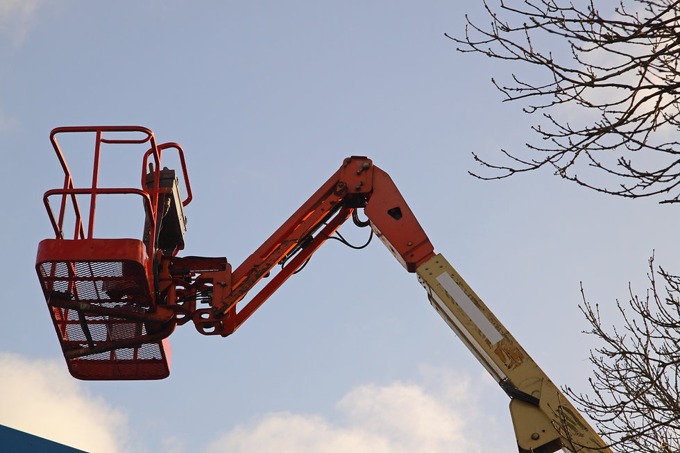 Cherry Picker with sky background