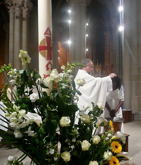 Pour baptême Albertine, je te baptise...