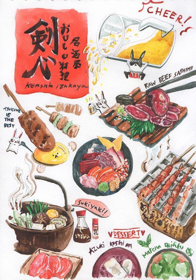 ลงสีเสร็จแล้วนะ!!! ไหนๆเราไปกินอิซากายะมาแบบจัดเต็ม