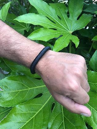 Bracelet cuir noir 04
