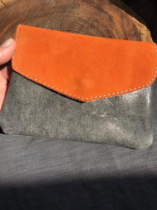 Porte-monnaie 2 orange/gris