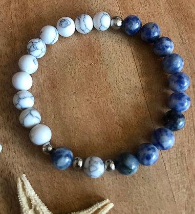 Bracelet howlite/sodalite