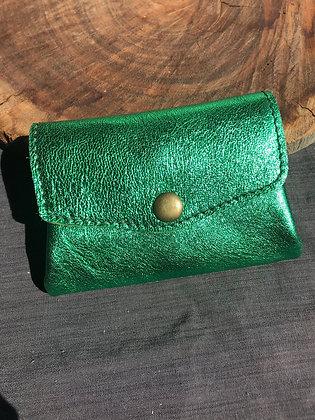 Porte-monnaie 3en1 vert brillant