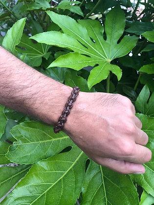 Bracelet cuir marron 2
