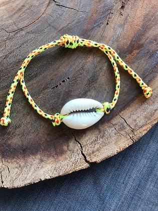 Bracelet caurie corde jaune