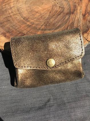 Porte-monnaie doré/bronze