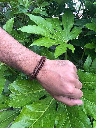 Bracelet cuir marron 1