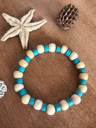 Bracelet corne de zébu /turquoise