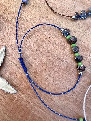 Bracelet /chaîne cheville Shell bleu