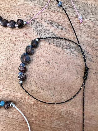 Bracelet / chaîne de cheville Shell noir