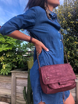 Sac Lola bordeaux/brillant