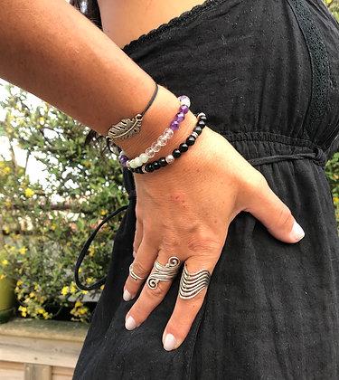 Bracelet améthyste /amazonite